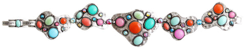 bracelet Color Drops multi antique silver