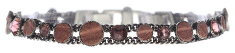 bracelet Planet River beige/brown antique silver
