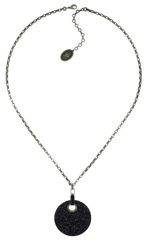 necklace pendant (long) Studio 54 black antique silver size 2XL