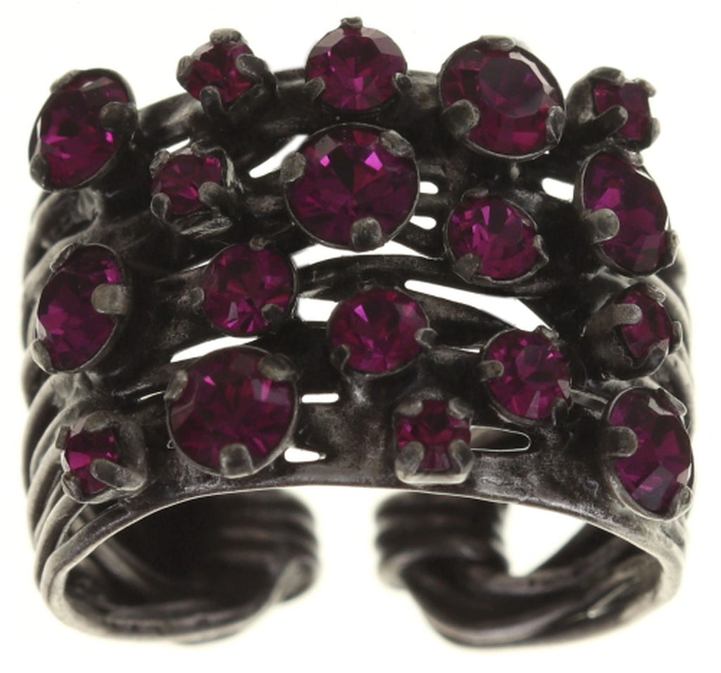 ring Cages dark rose antique silver