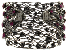 bracelet bangle Cages dark rose antique silver