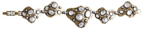 bracelet Color Drops white antique brass