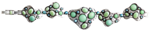 bracelet Color Drops green antique silver