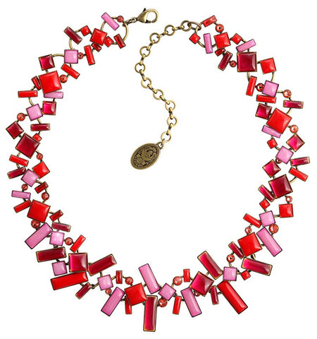 necklace Shake to the Rhythm red/lila antique brass