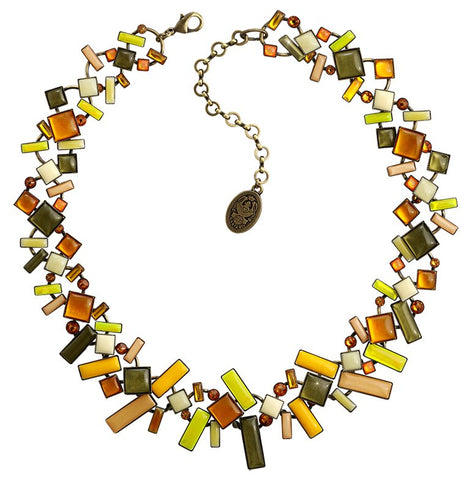 necklace Shake to the Rhythm yellow antique brass