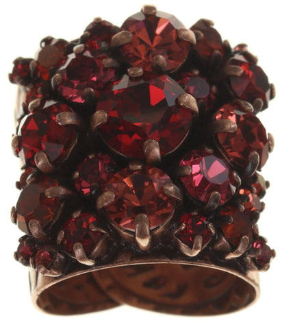 ring Ballroom coralline antique copper