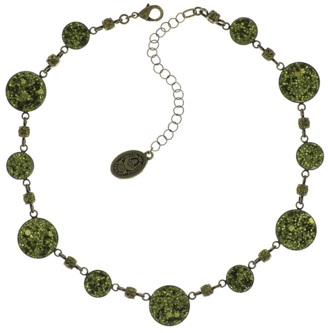 necklace Studio 54 green antique brass size S,XS