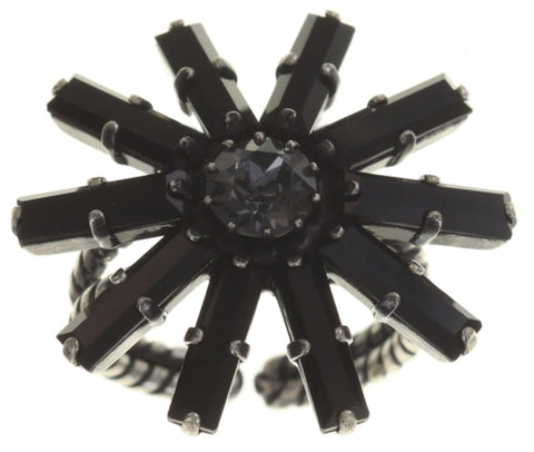 ring Spider Daisy - Daisy Spider black antique silver