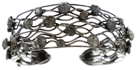 bracelet bangle Cages grey antique silver