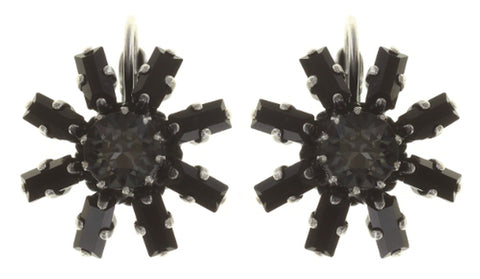 earring eurowire Spider Daisy - Daisy Spider black antique silver