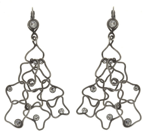 earring eurowire dangling From Joanna with Love white antique silver