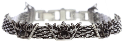 bracelet The Fox black antique silver size M
