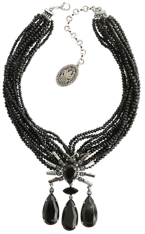 necklace Spider Daisy - Daisy Spider black antique silver