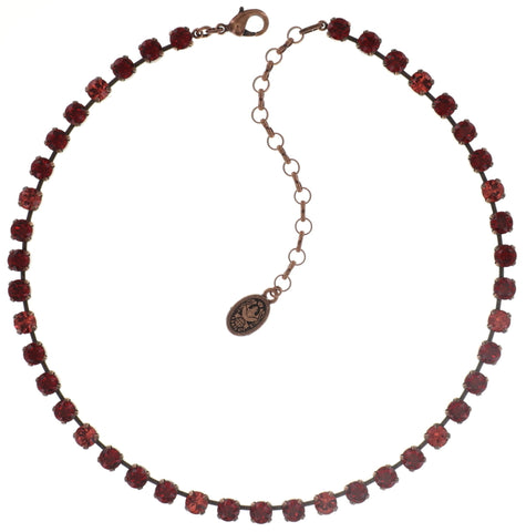 necklace Colour Snake coralline/red antique copper SS 29