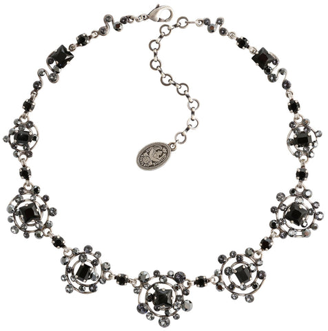 necklace Hera black antique silver size M,S