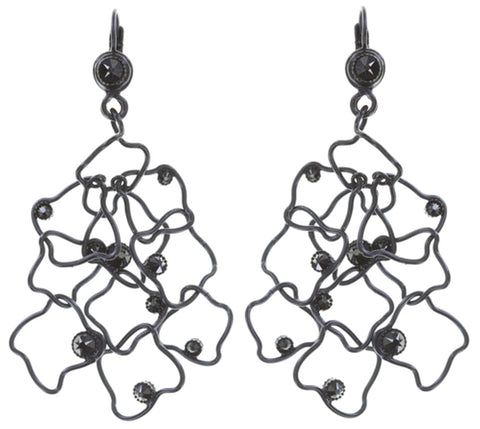 earring eurowire dangling From Joanna with Love black gun metal