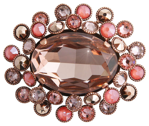brooch Caviar Treasure beige/pink Light antique copper