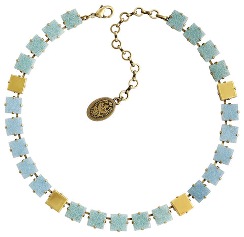 necklace Cleo light blue Light antique brass