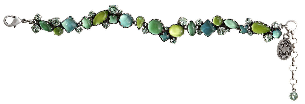bracelet Jelly Star green Light antique silver
