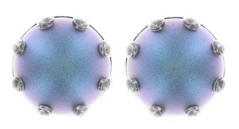 earring stud Little Frog Prince blue/pink antique silver