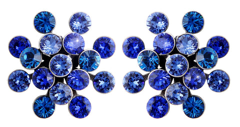 earring stud Magic Fireball blue antique silver