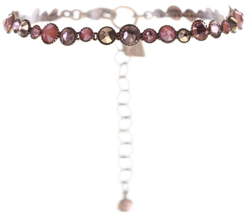 bracelet Water Cascade beige/pink Light antique copper
