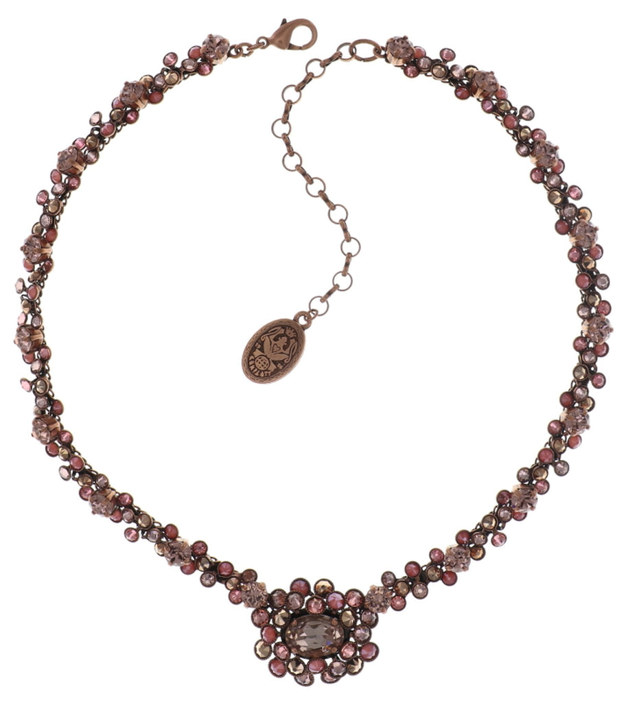 necklace Caviar Treasure beige/pink Light antique copper