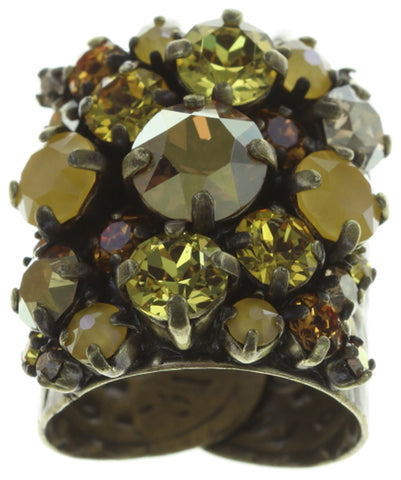 ring Ballroom yellow antique brass