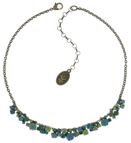 necklace Ballroom Classic Glam blue/green antique brass