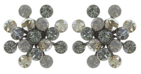 earring stud Magic Fireball grey antique silver