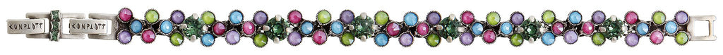 bracelet Caviar Treasure pastel multi Light antique silver