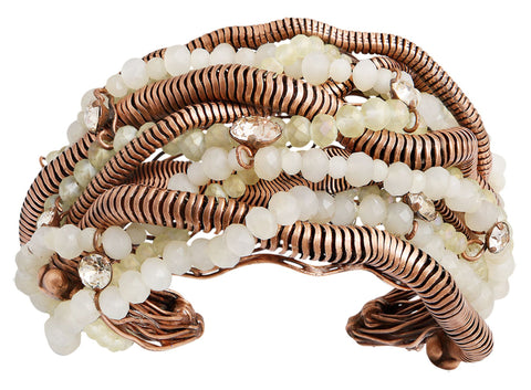 bracelet bangle Chameleon white Light antique copper