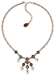 necklace Little Frog Prince white antique copper