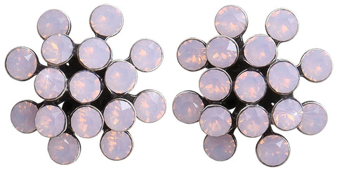 earring stud Magic Fireball pink antique silver mini