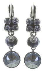 earring eurowire dangling Chameleon black/blue antique silver