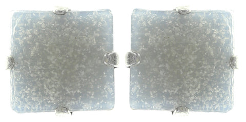 earring stud Cleo white antique silver