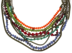 necklace Chameleon multi antique brass