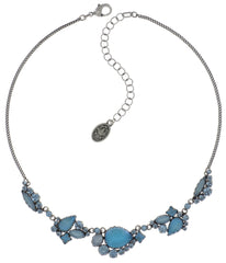 necklace Jelly Star blue Light antique silver