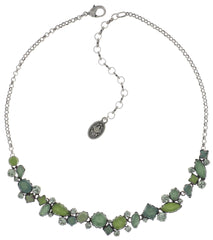 necklace Jelly Star green Light antique silver