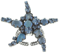 ring Jelly Star blue Light antique silver size S