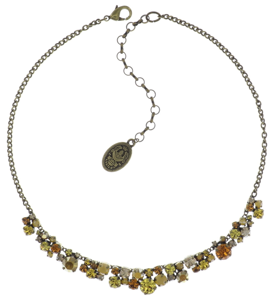 necklace Ballroom Classic Glam yellow antique brass