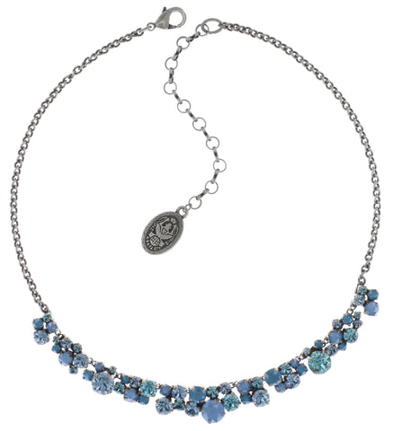 necklace Ballroom Classic Glam blue antique silver