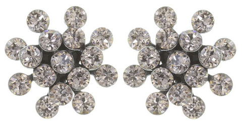 earring stud Magic Fireball light brown antique silver mini