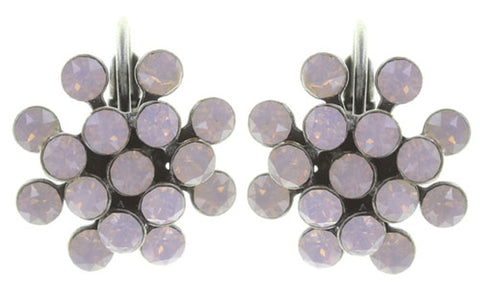 earring eurowire Magic Fireball pink antique silver mini