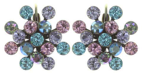 earring eurowire Magic Fireball pastel multi antique brass Classic Size (21mm Ø)