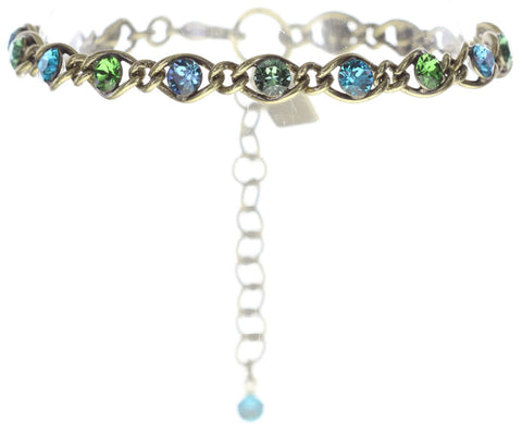 bracelet Magic Fireball blue/green antique brass