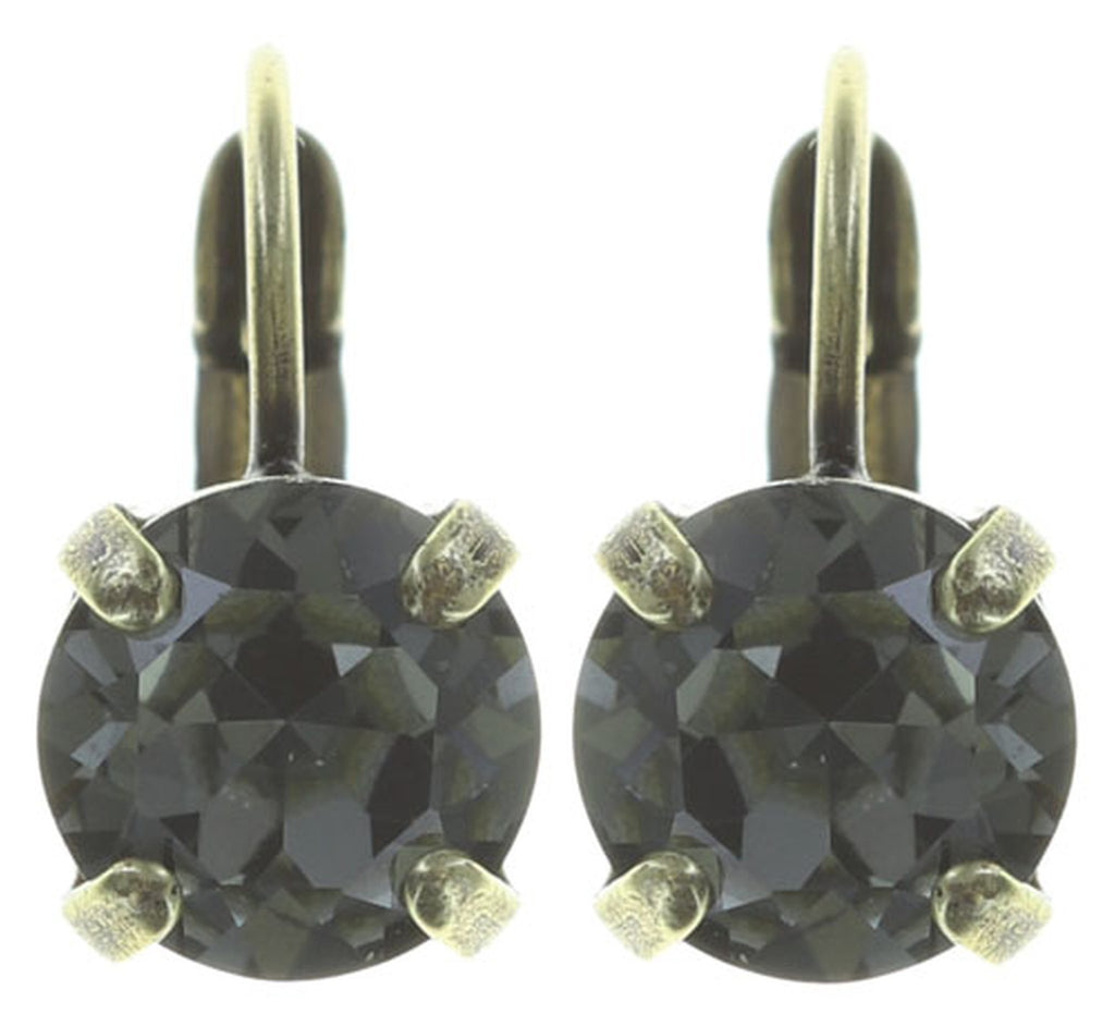 earring eurowire Black Jack grey antique brass SS 39