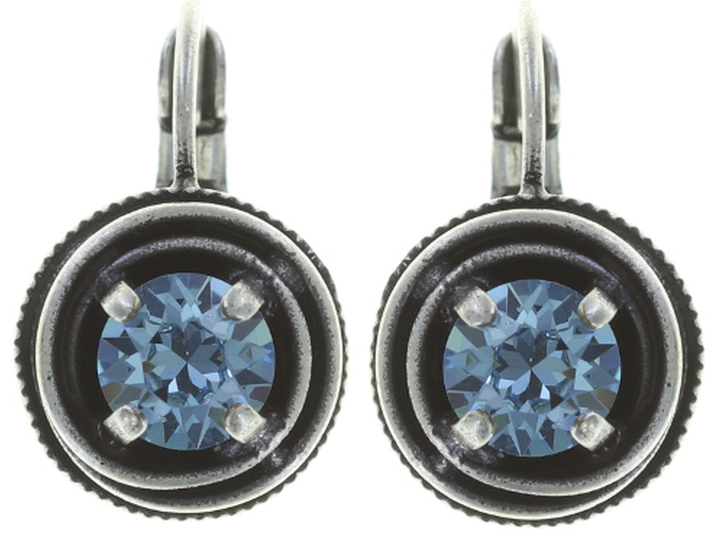 earring eurowire Cages blue antique silver SS 29