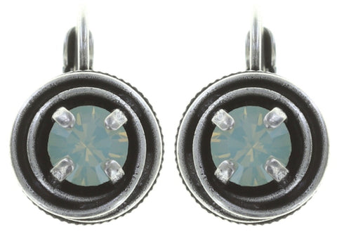 earring eurowire Cages pastel multi antique silver SS 29