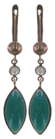 earring dangling Dance with Navette multi antique copper